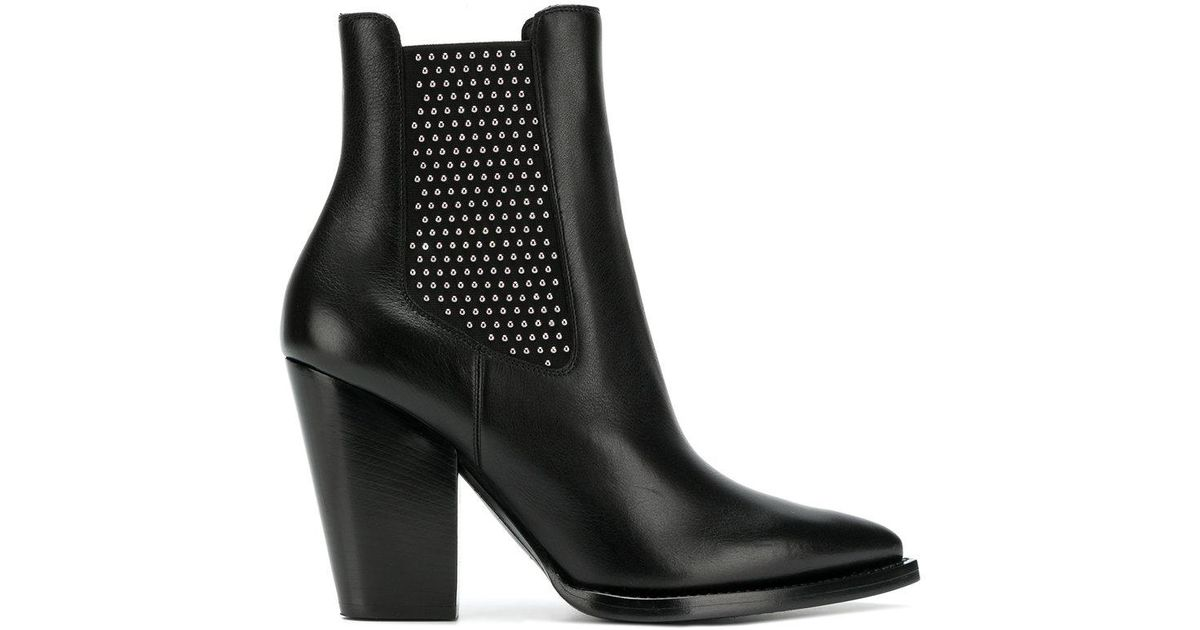 Buy Cheap 2018 New microstud Theo boots - Black Saint Laurent Professional For Sale Lowest Price Best Place Sale Online rYAFrQ