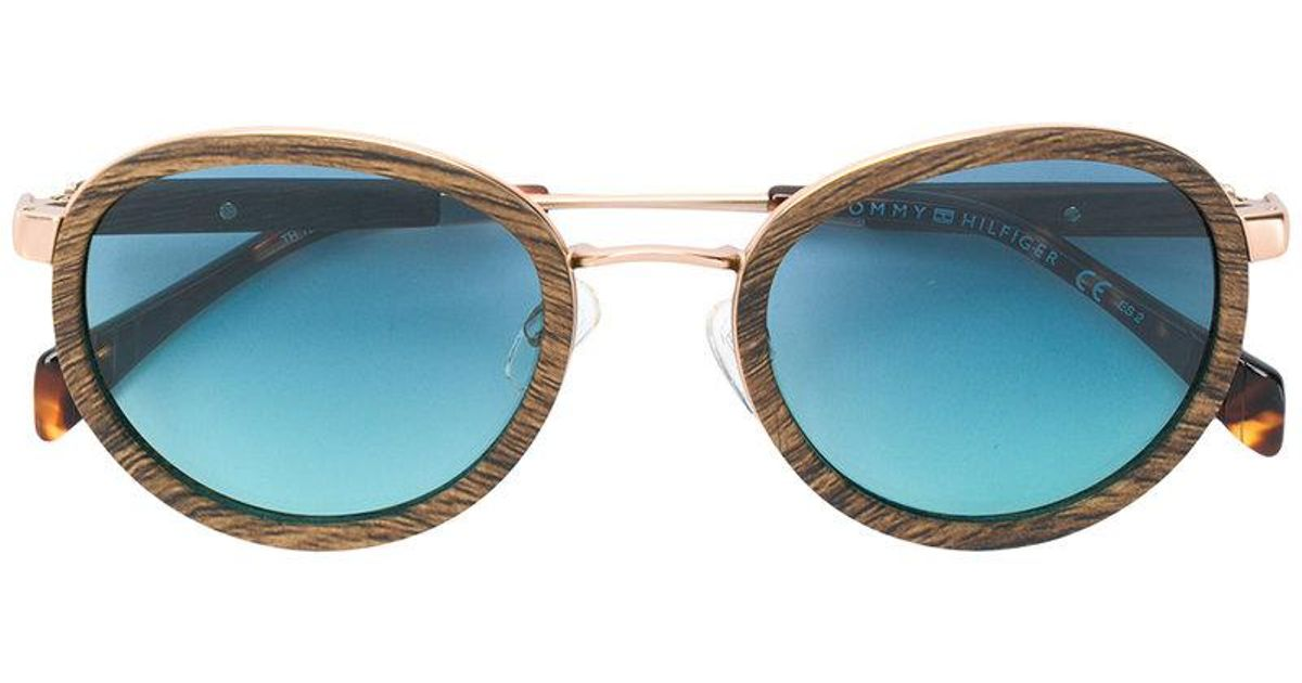 Tommy Hilfiger Wood effect sunglasses 4IB5W