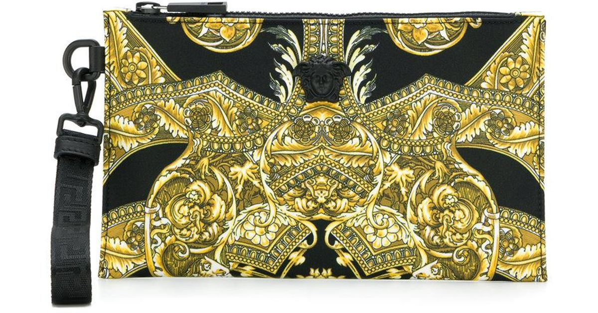 887ad1fabcfd Lyst - Versace Baroque Print Clutch