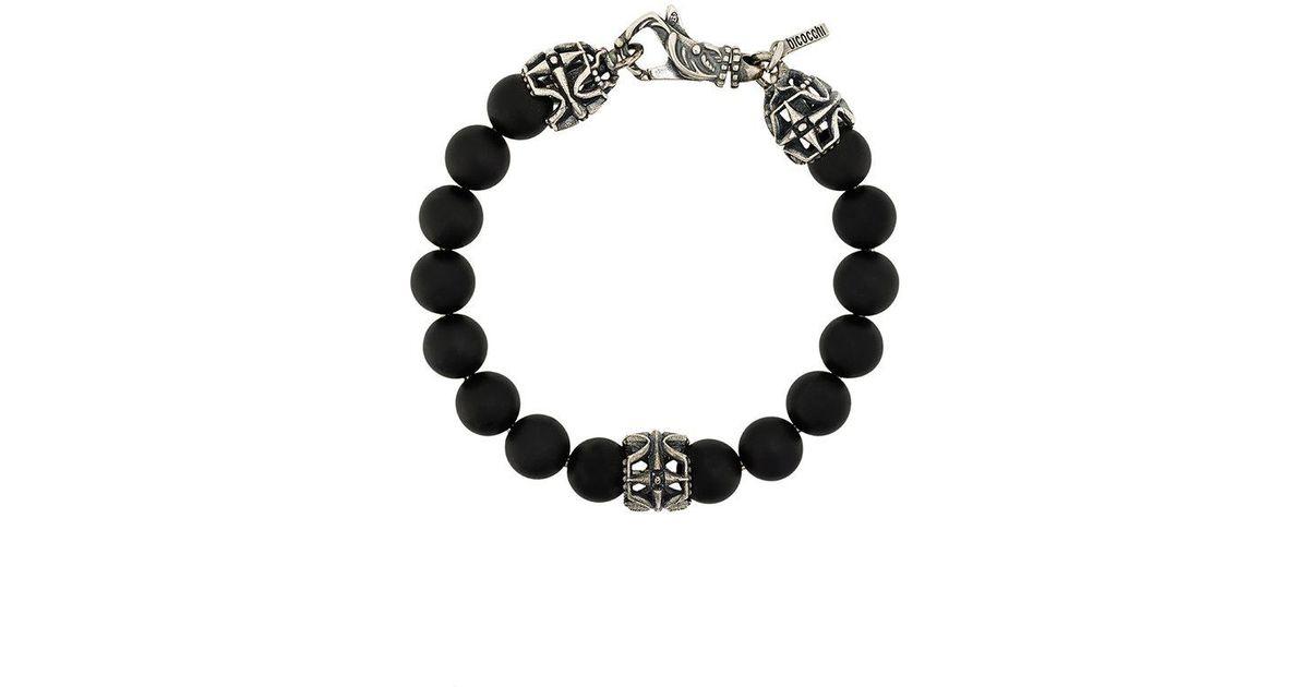 Emanuele Bicocchi lava stone bracelet - Metallic gI1nAPL7x