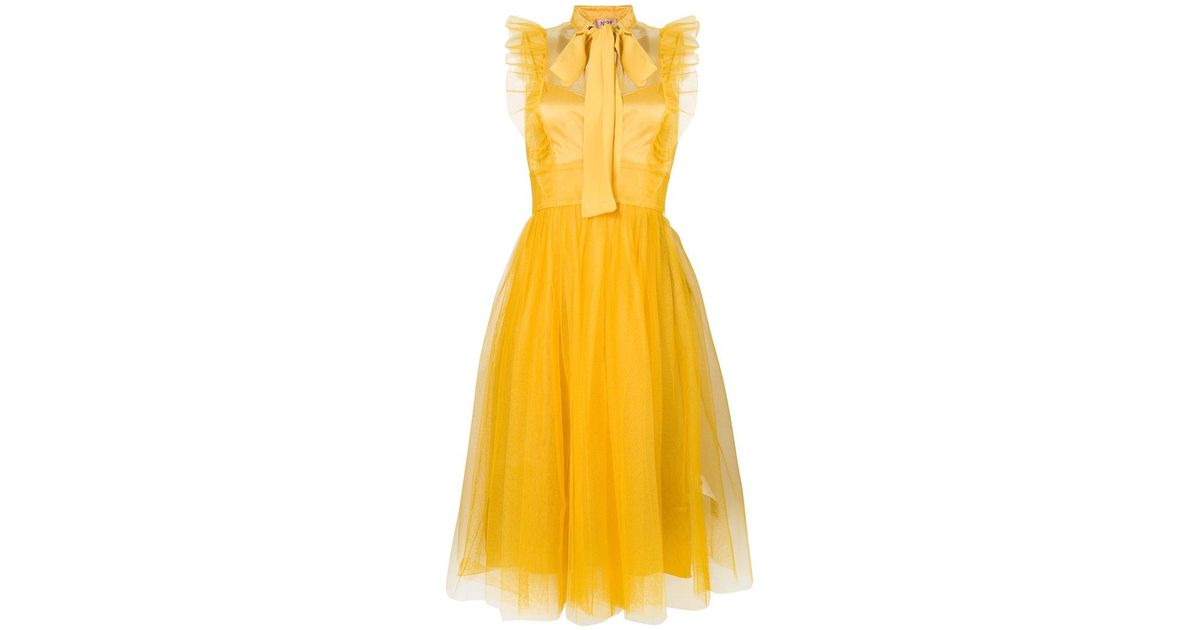 tulle ruffled dress - Yellow & Orange N°21 Outlet Low Price GYknpzvU