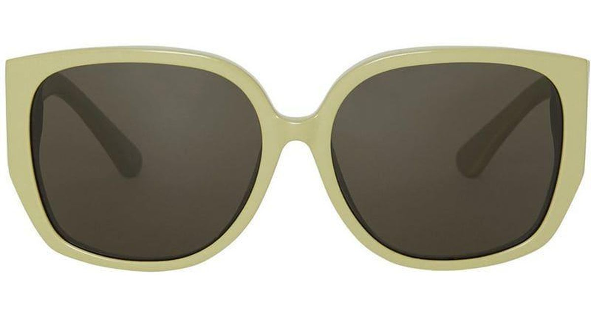 cd2e4bec4a36 Lyst - Burberry Oversized Butterfly Frame Sunglasses in Green