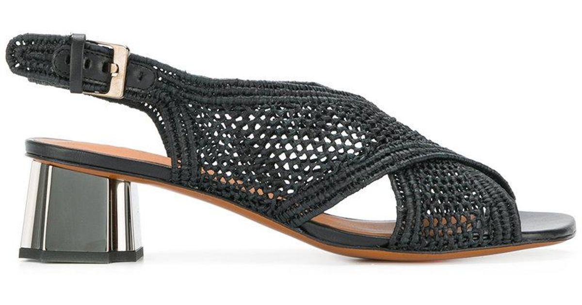woven crossover strap sandals - Black Robert Clergerie uzmpB3n