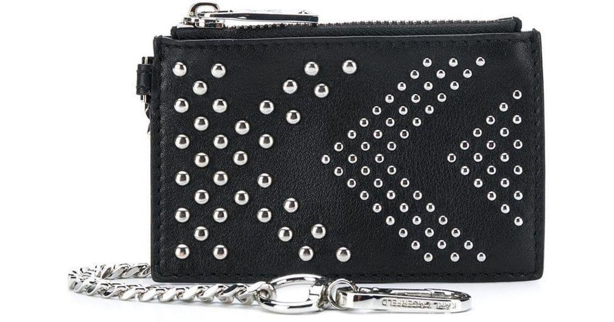 6e80a011aca3 Lyst - Кошелек Karl X Kaia 'rocky' Karl Lagerfeld, цвет: Черный