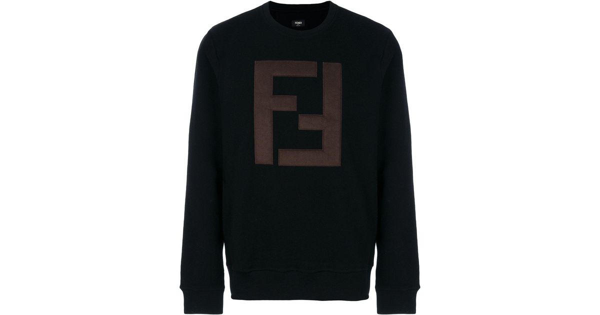 20efbb18 Fendi Ff-logo Sweatshirt in Black for Men - Lyst