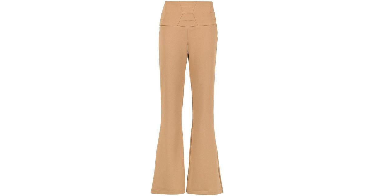 Sisa flared trousers - Nude & Neutrals OLYMPIAH IEApIEZU