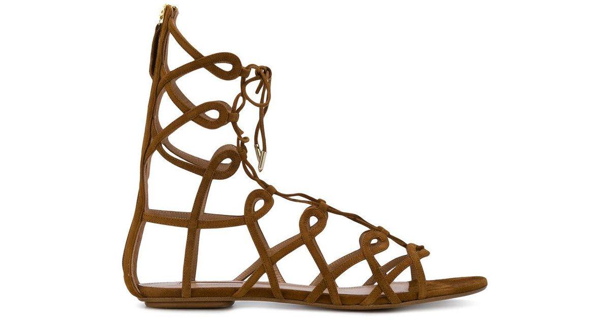 Aquazzura Ankle length strappy sandals 9vK5b4Z