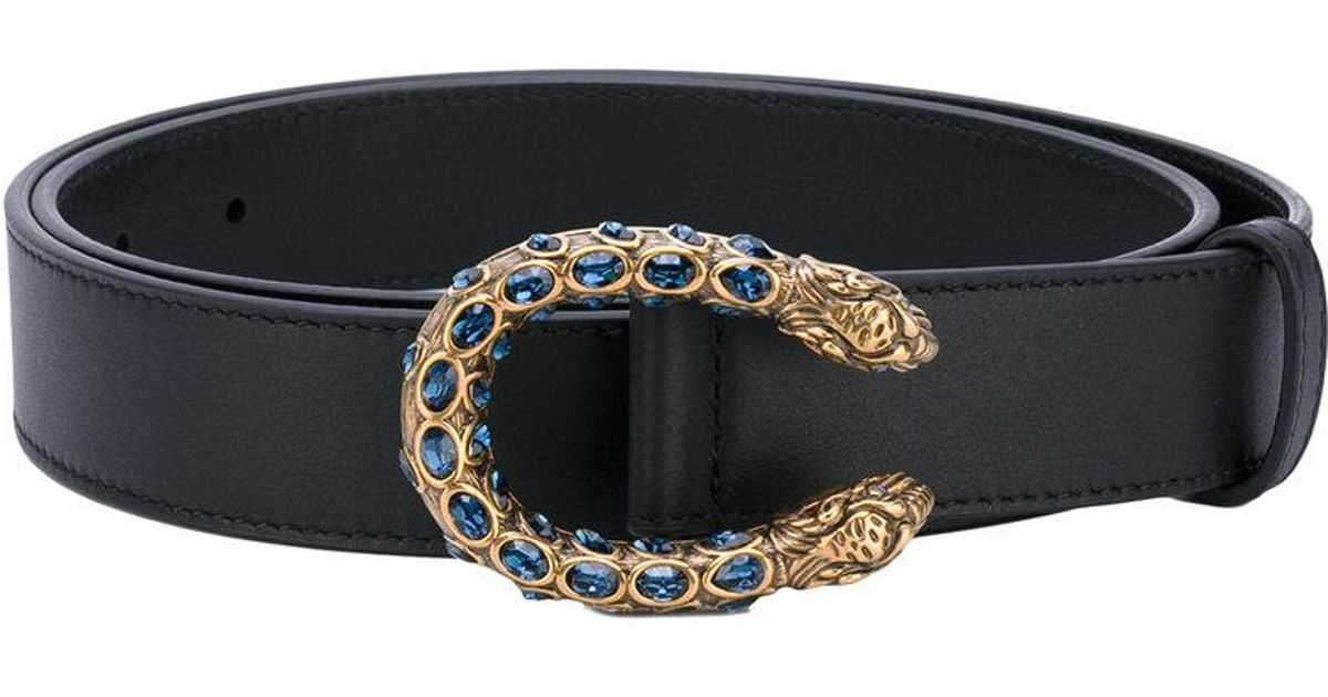 209e60d1966 Gucci Snake Buckle Belt in Black - Lyst