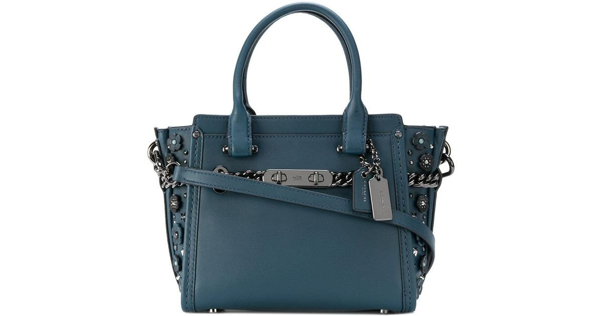 a9dedd38b340 Coach Swagger 21 Tote Bag in Blue - Lyst