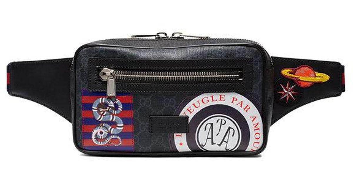 daa772599 Gucci Night Courrier Gg Supreme Belt Bag I in Black for Men - Lyst
