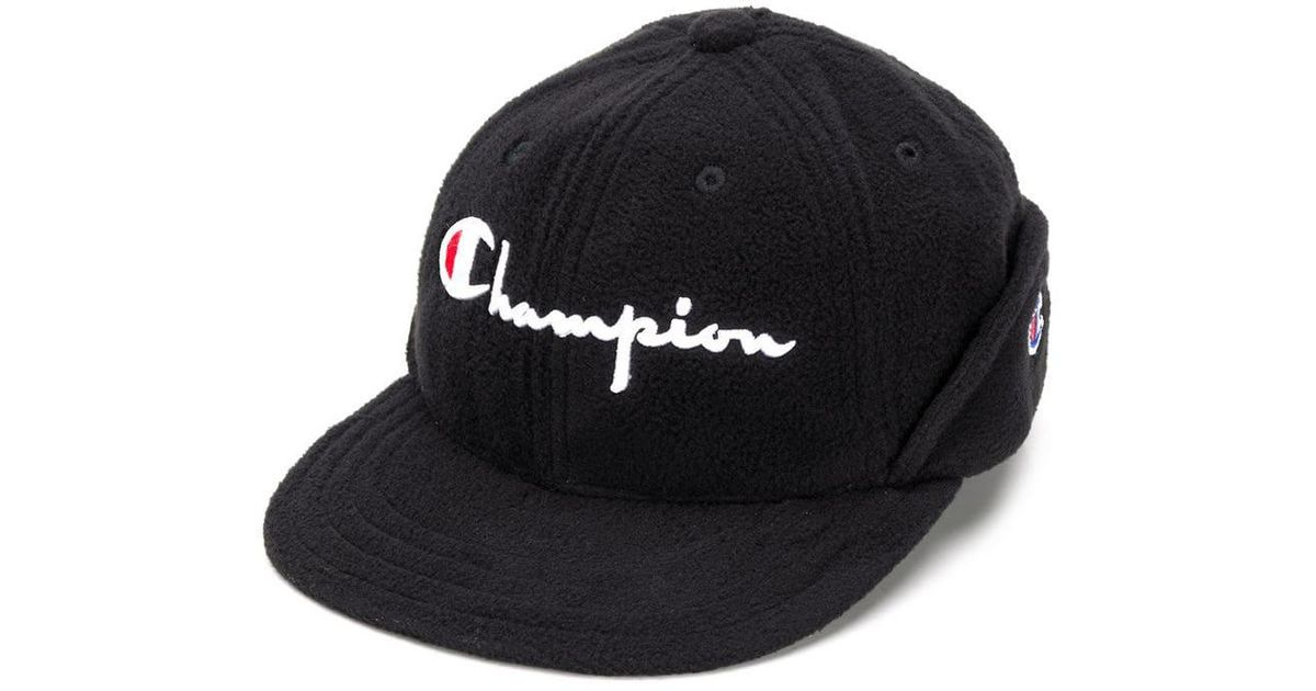 4852963bcd1 ... store lyst champion embroidered logo cap in black for men 69b81 b2102