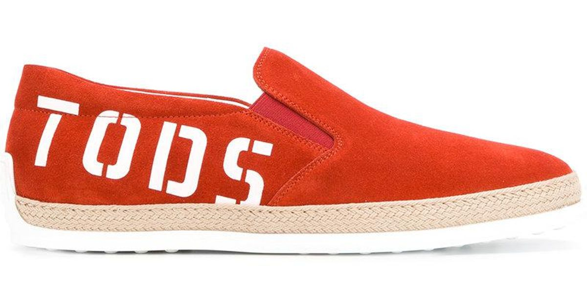 laceless logo sneakers - Yellow & Orange Tod's