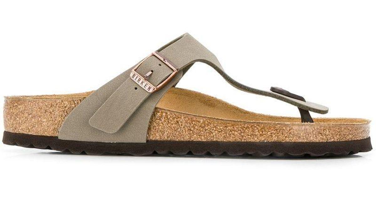 6d36478baa25 Lyst - Birkenstock Thong Sandals in Brown