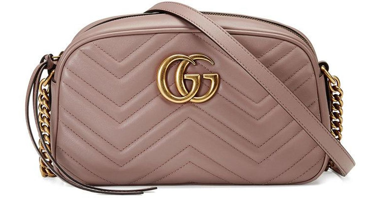 24bd32c497047e Gucci Gg Marmont Camera Mini Quilted Leather Shoulder Bag - Lyst
