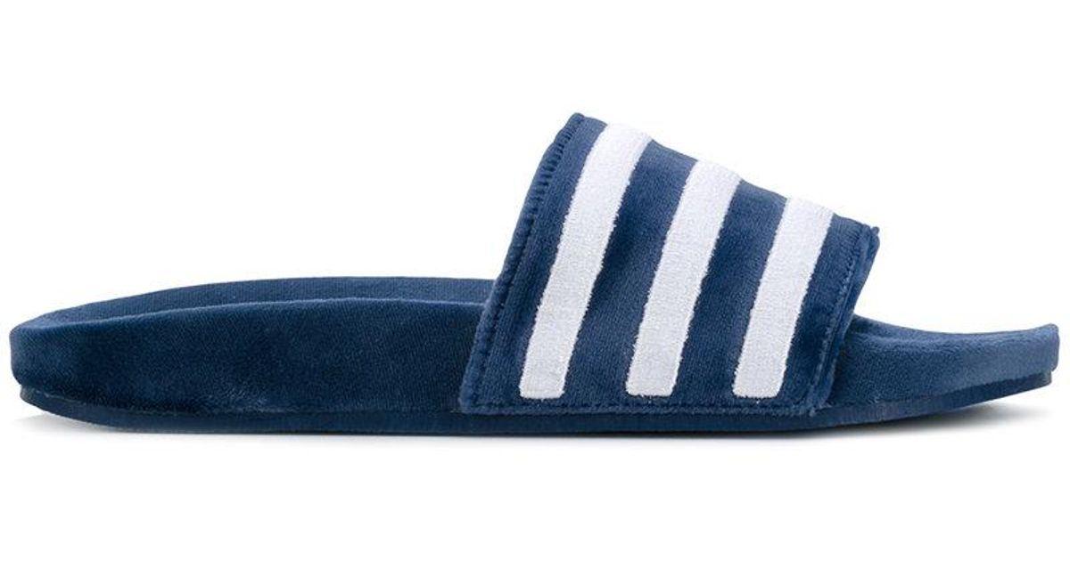 5dfd565ccbc26 Lyst - adidas Originals Adilette Pool Slides in Blue