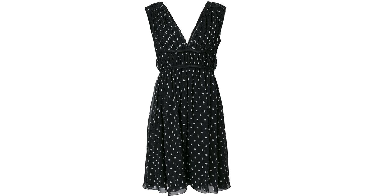 cb0193c95af Lyst - Giambattista Valli Sleeveless Polka Dot Dress in Black