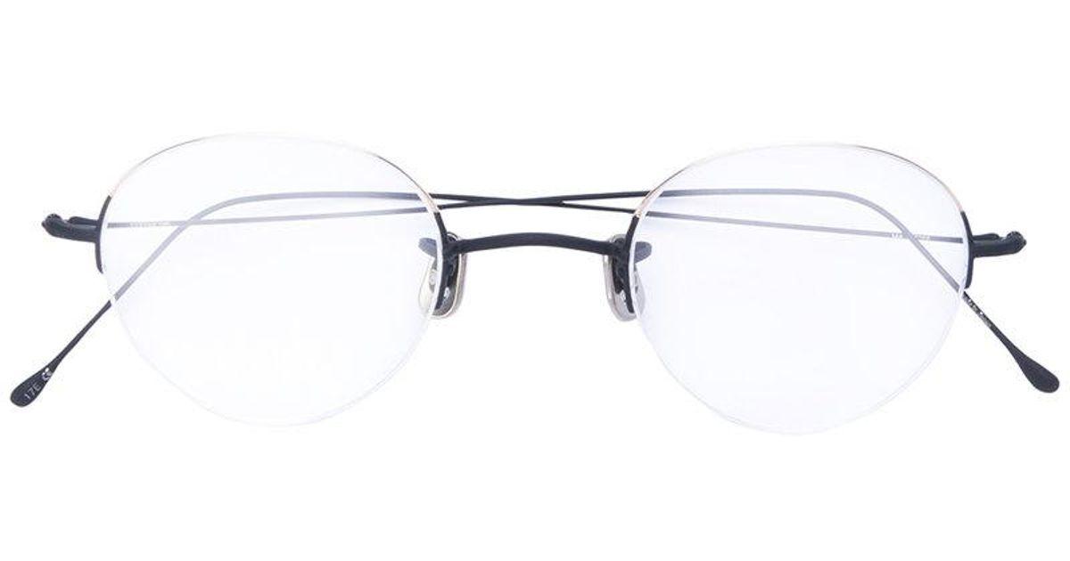 Lyst - Eyevan 7285 Thin Frame Glasses in Metallic for Men