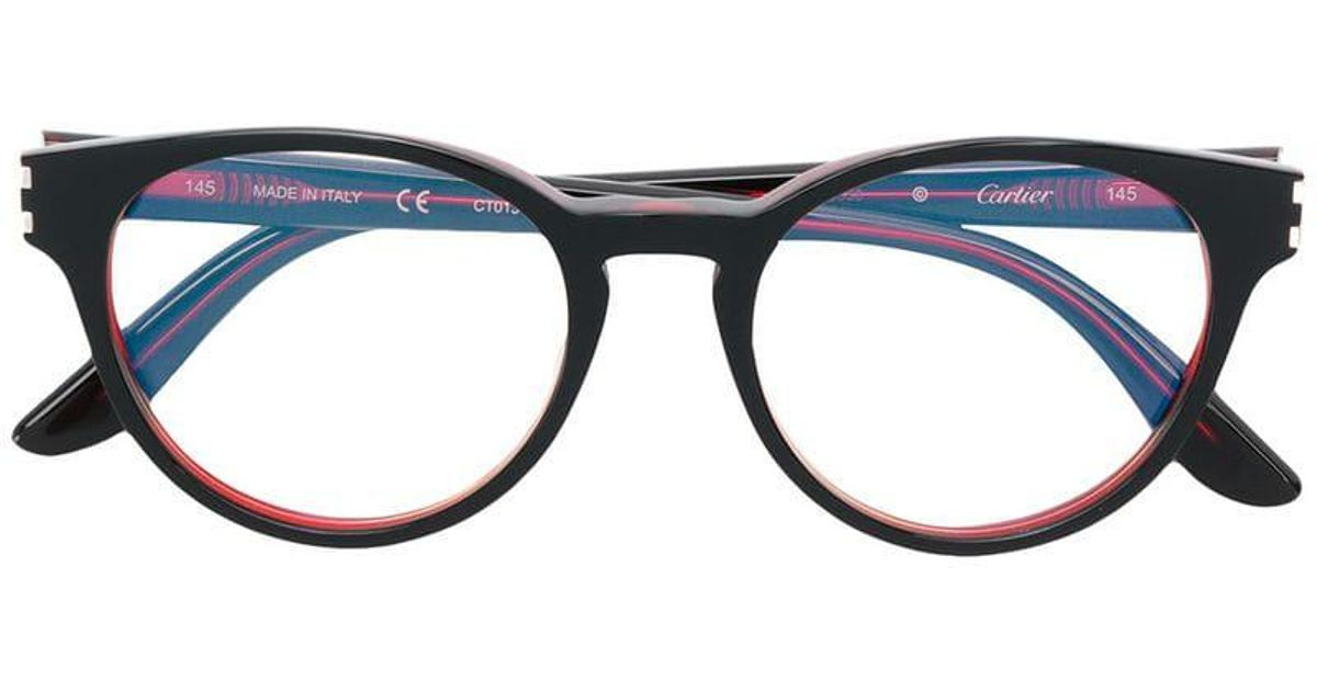 ce5cfdd1e3 Cartier C Décor Glasses in Red - Lyst