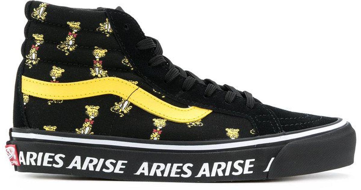 30fa6a59cc8cb7 Lyst - Vans Aries X Og Sk8-hi Sneakers in Black for Men