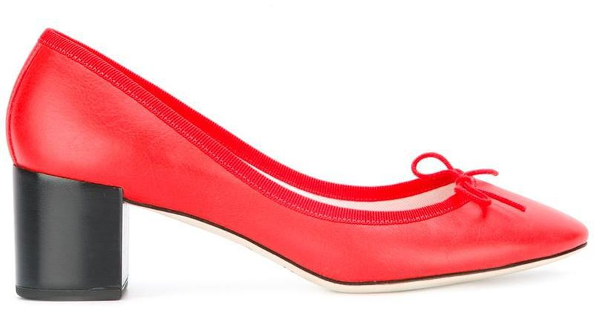 Repetto Front bow pumps