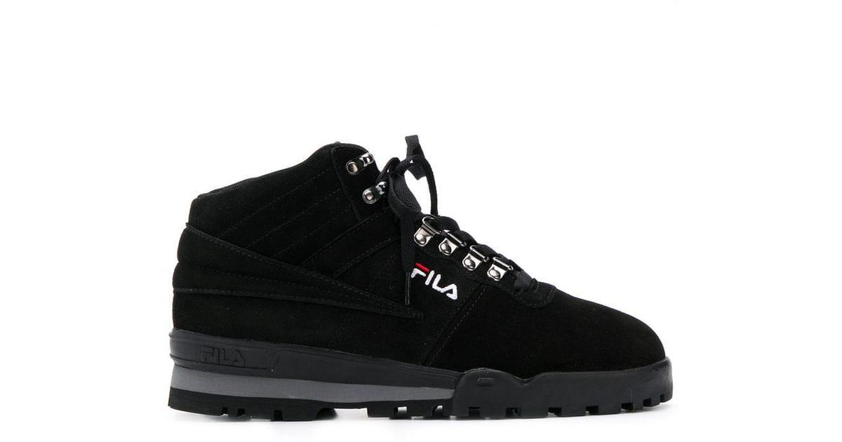 0c1a511f439 Lyst - Fila Mid-top Lace-up Sneakers in Black for Men