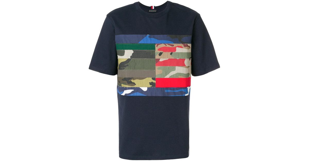5dcabeac0 Tommy Hilfiger Camo T-shirt in Blue for Men - Lyst