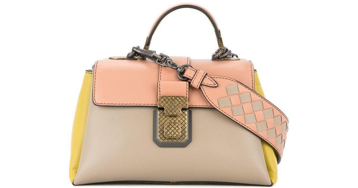 1ff7cce04573 Bottega Veneta Mini Piazza Bag in Pink - Lyst
