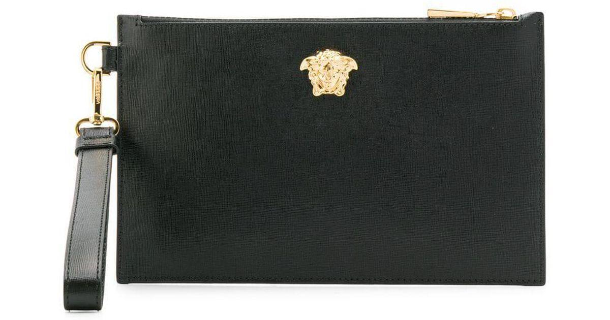 Versace Medusa Head Clutch Bag in Black for Men - Save 13% - Lyst e346bae4a4
