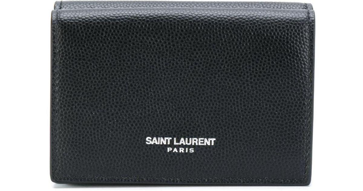 Lyst - Saint Laurent Paris Tiny Wallet in Black for Men