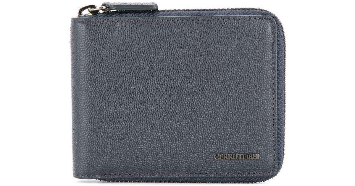 984a3783dc8 Lyst - Cerruti 1881 Zip Around Wallet in Blue for Men