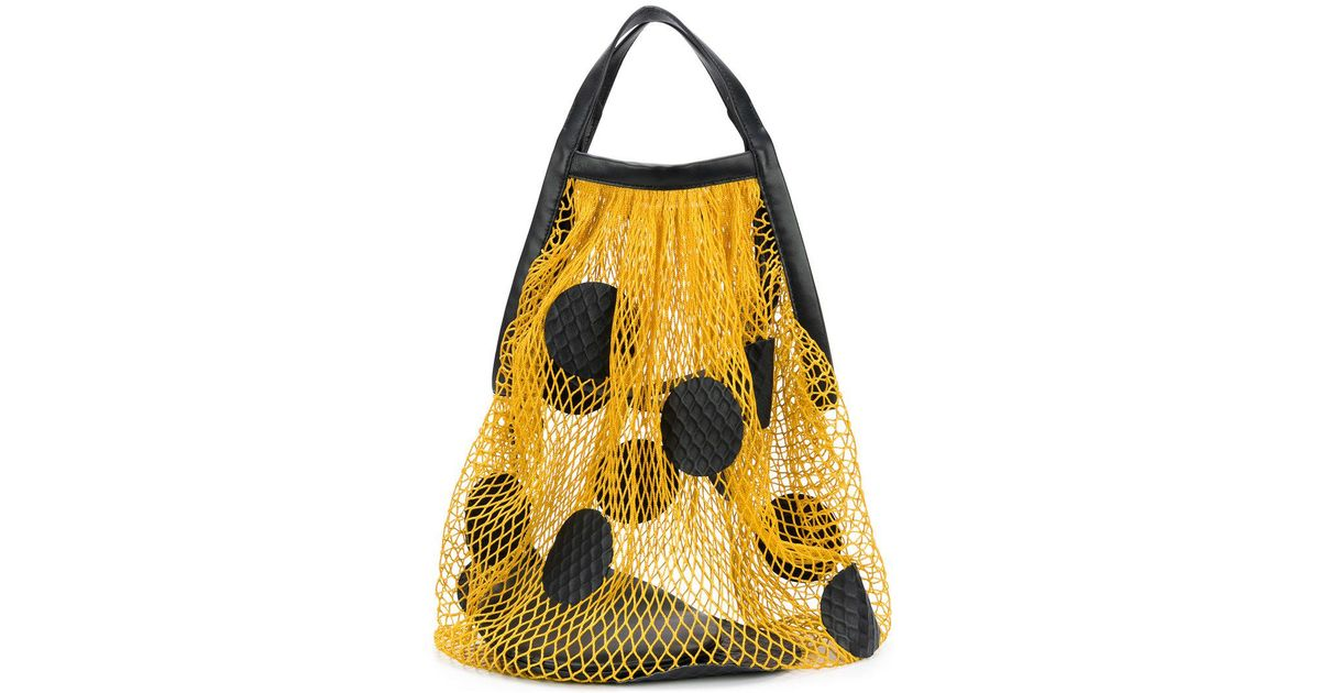 polka-dot net bag - Yellow & Orange Maison Martin Margiela hj2N4F
