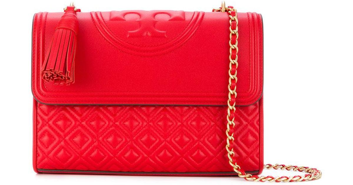 0accce45421 Lyst - Tory Burch Fleming Convertible Shoulder Bag in Red
