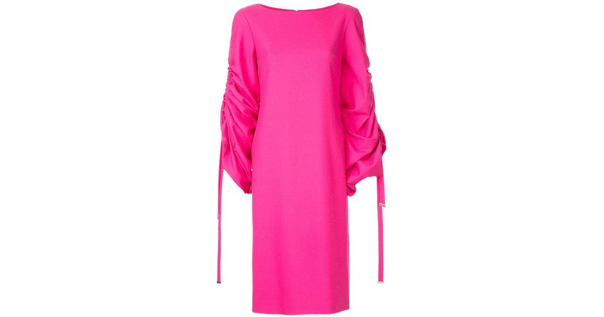 ruched sleeve dress - Pink & Purple Osman c8OM6E
