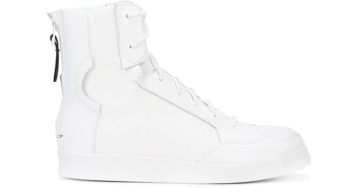 Zip Yohji En White Coloris Montantes À Arrière Baskets Yamamoto f7yIvYb6gm