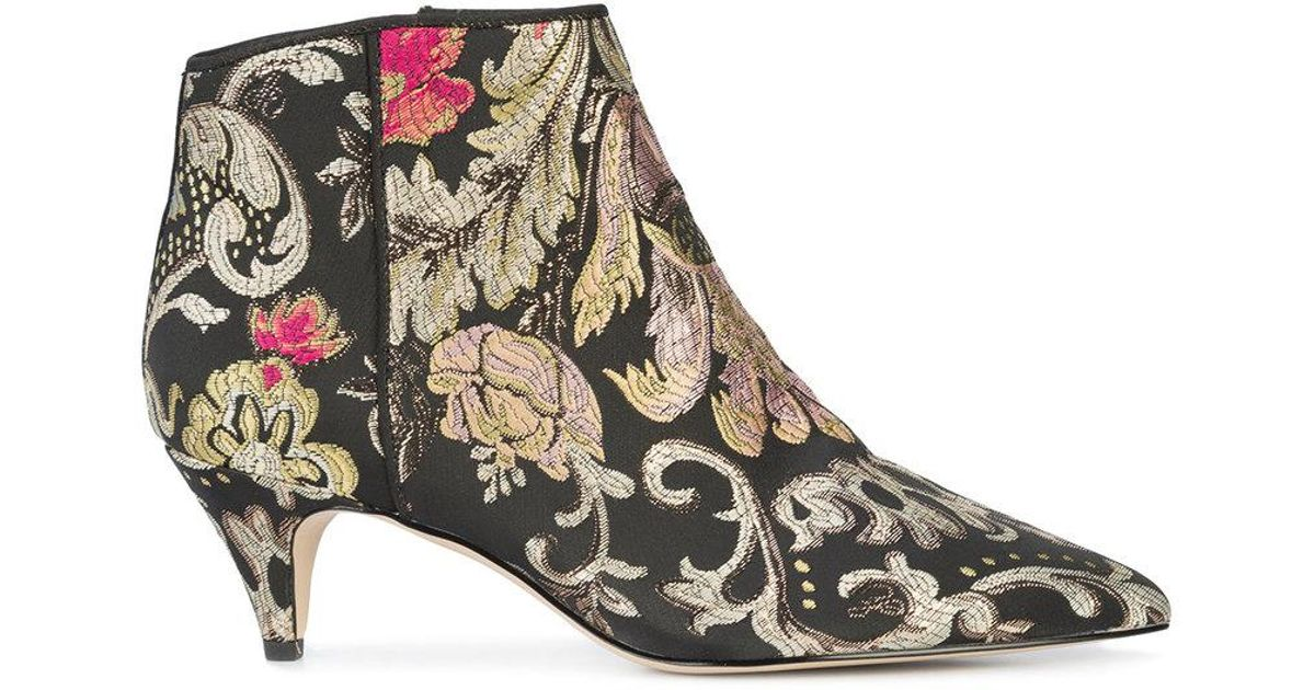 640d7361a Lyst - Sam Edelman Patterned Ankle Boots in Black