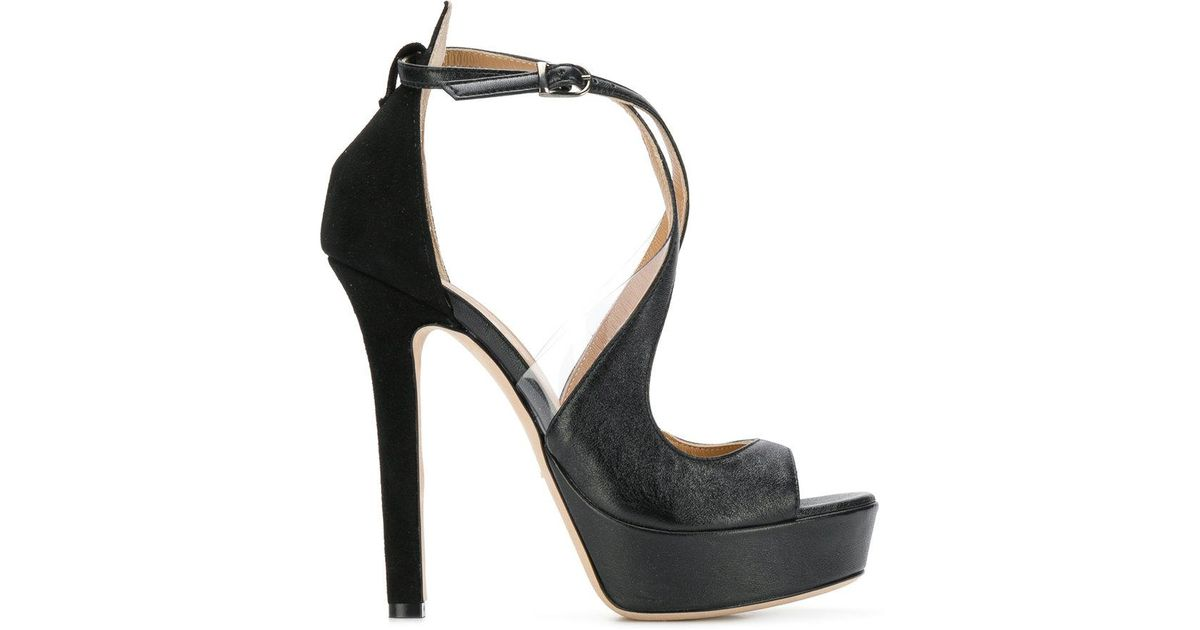 0fdd0b9fdb5 Lyst - Marc Ellis Cross Strap Platform Sandals in Black