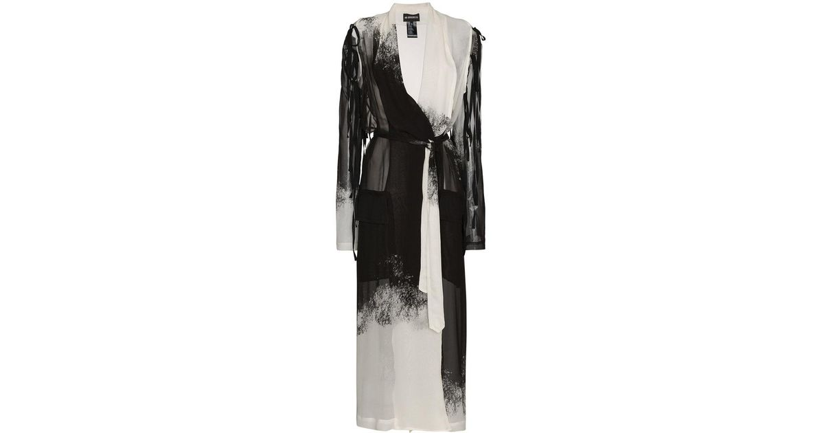 Buy Cheap Release Dates Ann Demeulemeester gradient print long sleeve silk robe jacket With Mastercard Cheap Online JRJecA
