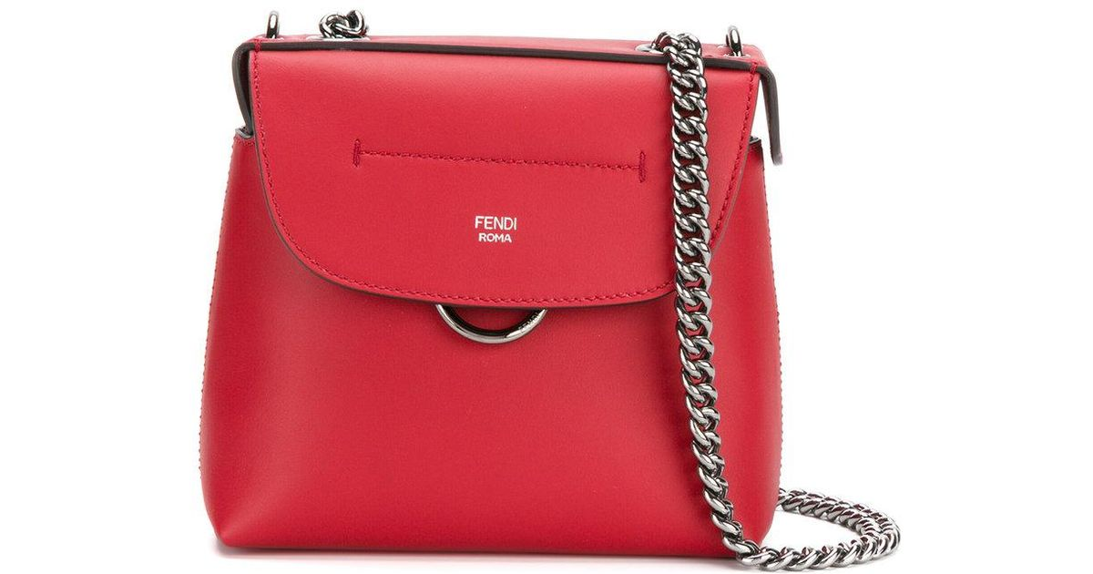 56a87a8479 Lyst - Fendi Mini Back To School Backpack in Red