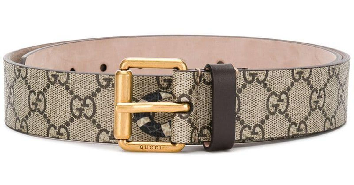d36cd876f Gucci Gg Supreme Belt With Kingsnake Print for Men - Lyst