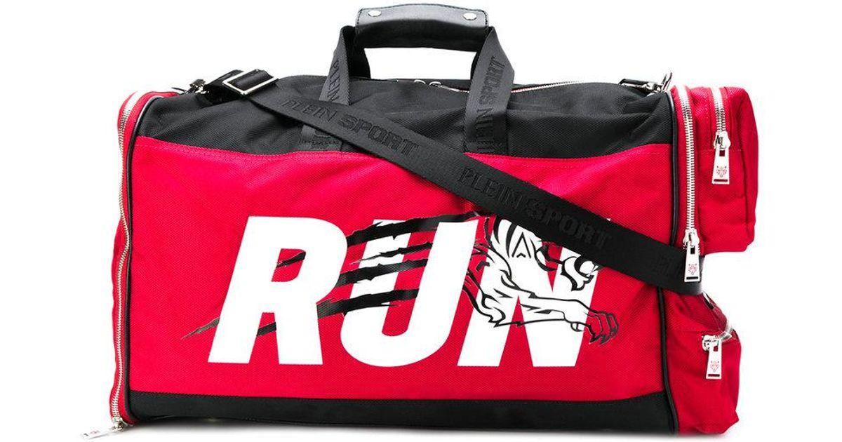 3000af210c Philipp Plein Printed Duffel Bag in Red for Men - Lyst