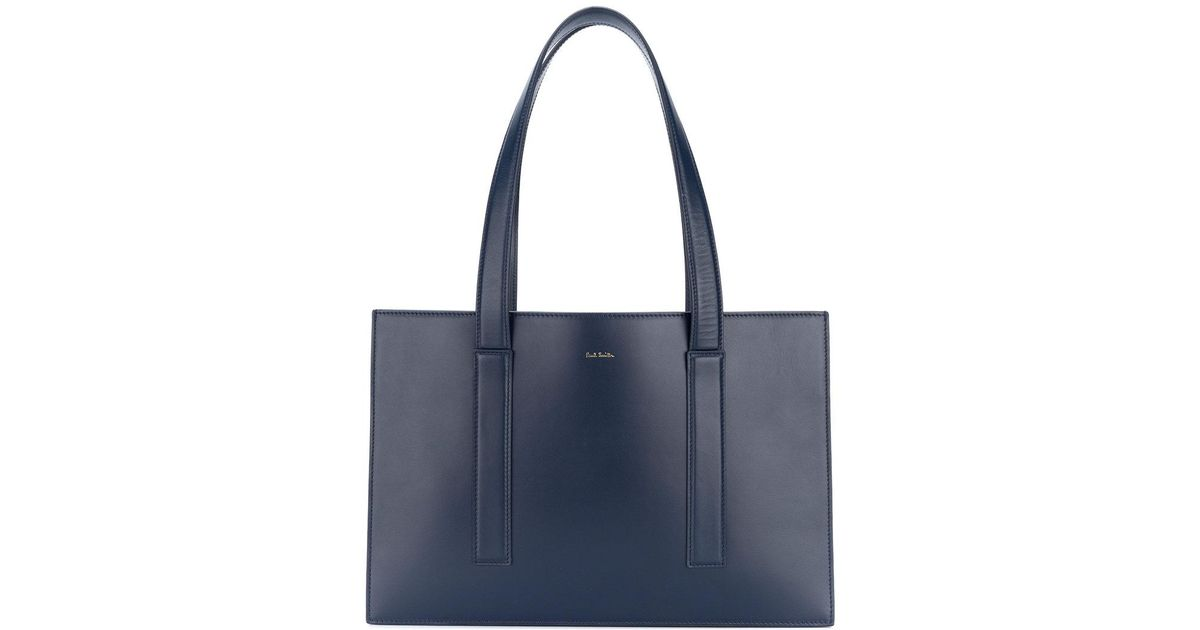 81e700be8c Lyst - Paul Smith Concertina Swirl Small Tote Bag in Blue