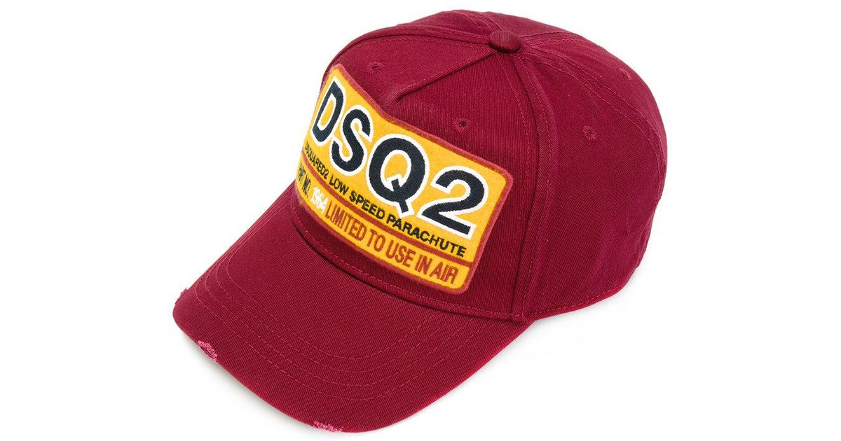 Lyst - DSquared² Logo Baseball Hat in Red for Men bb23c5a8cc23