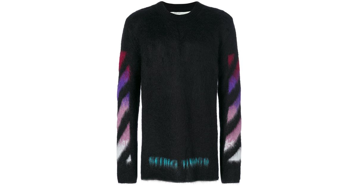 a0e4f5773d90 Lyst - Off-White c o Virgil Abloh Brushed Arrows Pullover in Black for Men