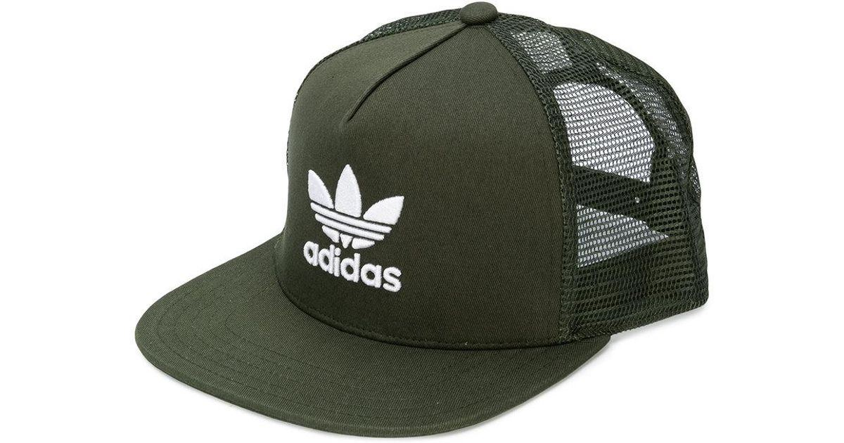 Lyst - adidas Originals Trefoil Trucker Cap in Green for Men 7b0c2e515d7