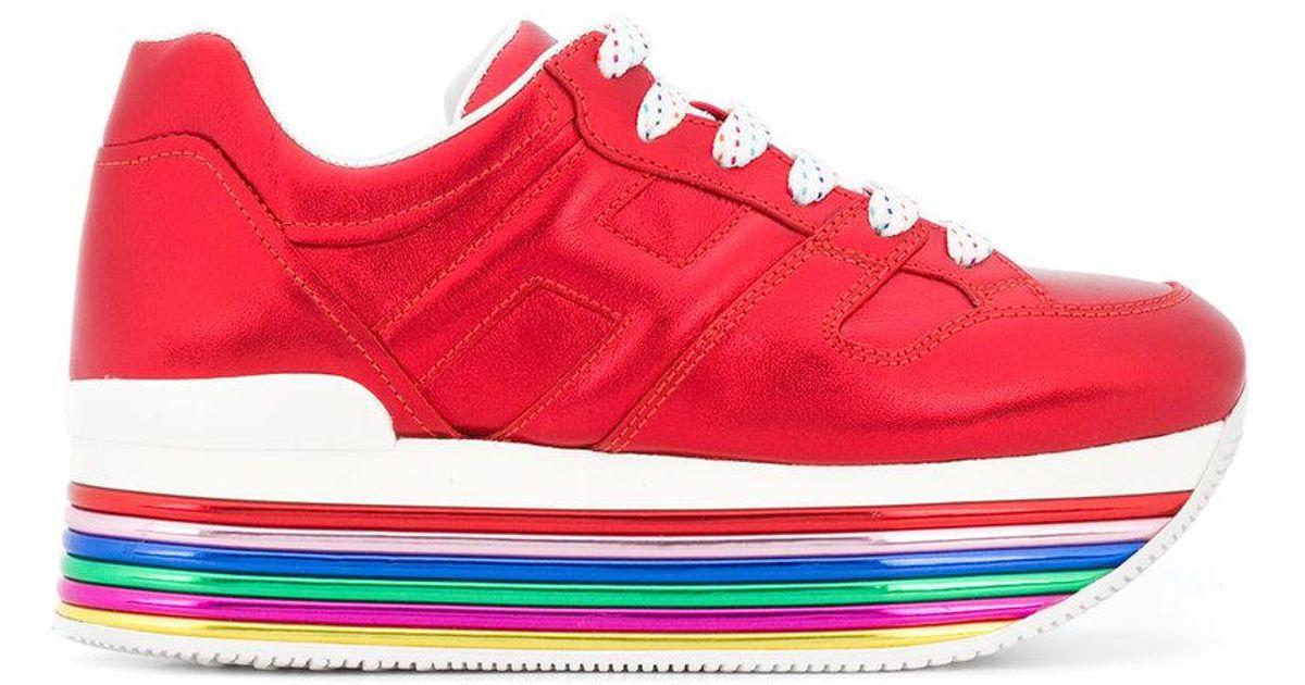 b29683492ae Lyst - Hogan Platform Sneakers in Red