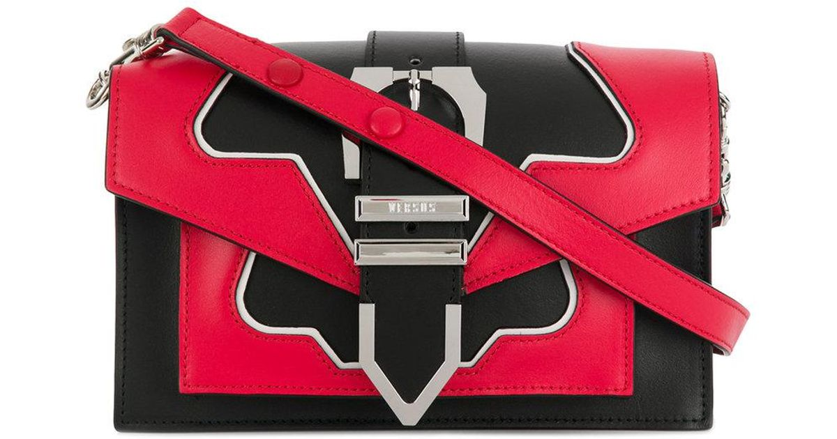 Versus Flash buckle shoulder bag - Black s9c7eoiMO