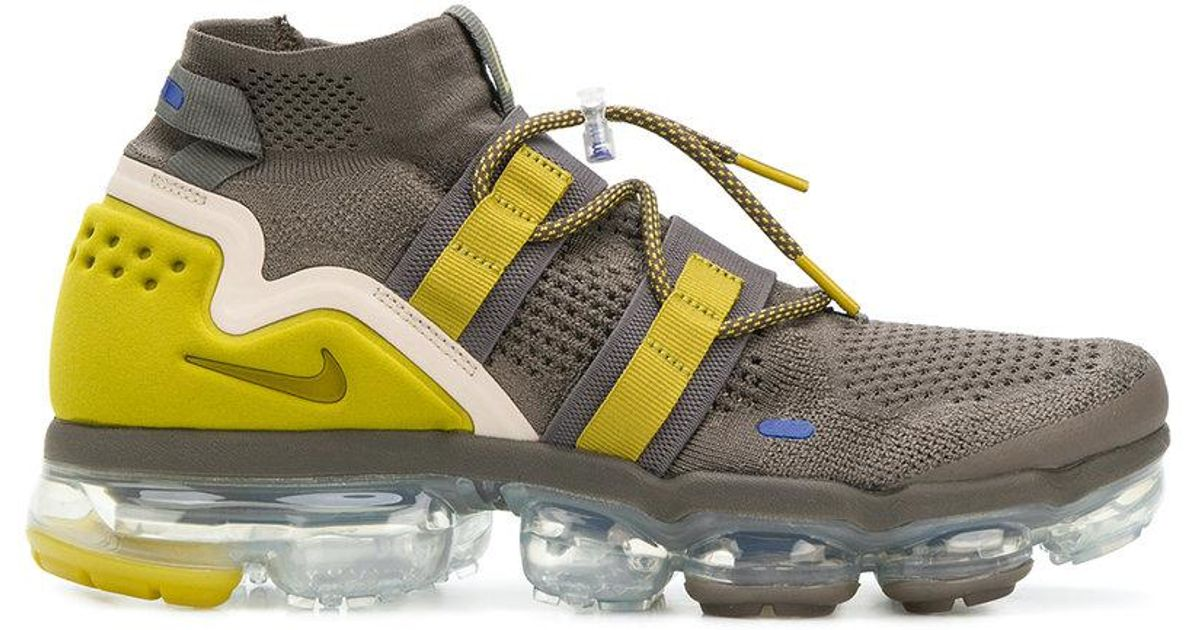 e1e71be44ca8 Lyst - Nike Air Vapormax Flyknit Utility Sneakers in Green for Men