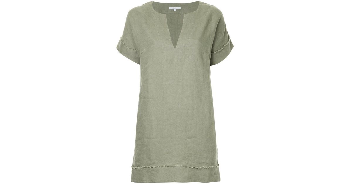frayed edge shift dress - Green Venroy dCkNeVy