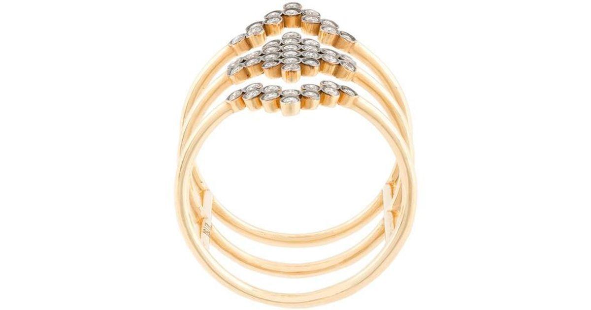 Yannis Sergakis triple stacked diamond charnières ring - Metallic HGUuWxfHBd