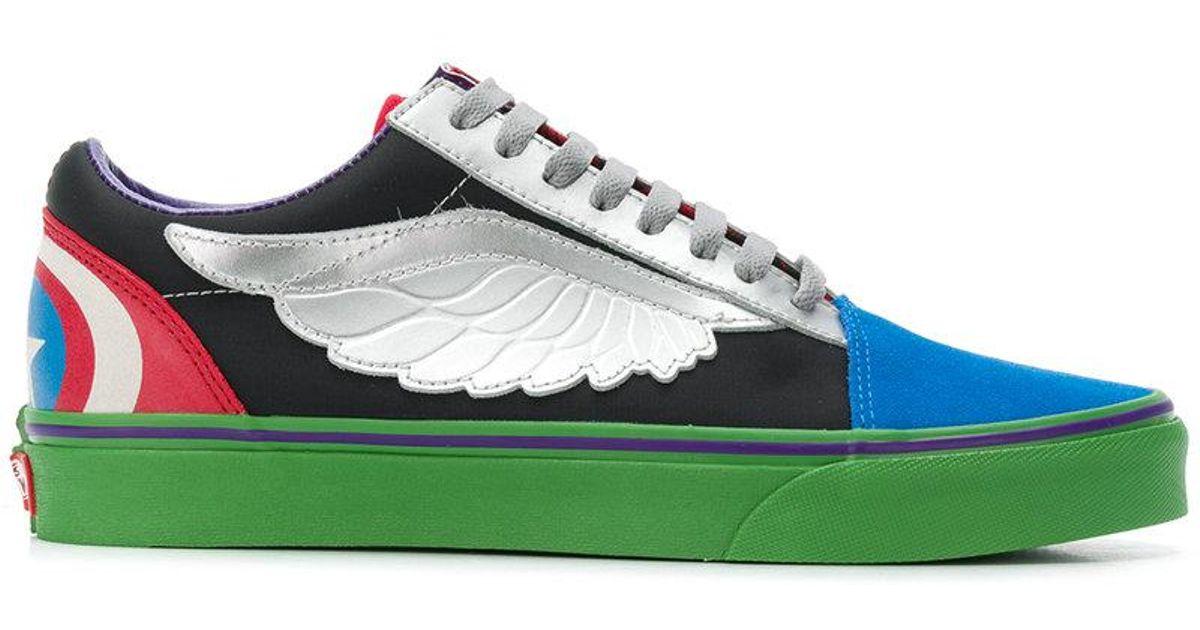 8f4be5722407 Lyst - Vans Old Skool Avengers Sneakers in Green for Men